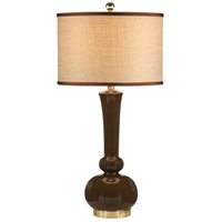 Wildwood Lamps Astrid (Expresso) Table Lamp in Expresso On Ceramic 26017-2