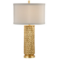 Wildwood Lamps Vivienne Table Lamp in Gilt On Fired Ceramic 26022