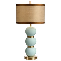 Studio W 32 inch 100 watt Lacquer On Fired Ceramic-Tahiti Blue Table Lamp Portable Light