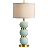 Wildwood Lamps Paloma Table Lamp in Composite Ceramic-Tahiti Blue 26058