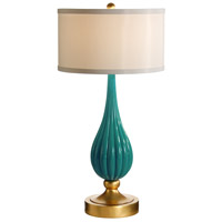 Wildwood Lamps Milan Table Lamp in Designer Color On Composite-Azure 26066