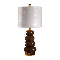 Wildwood Lamps Studio W Hand Painted Zoe Lamp - Espresso 26088-2