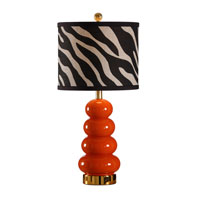Wildwood Lamps Studio W Hand Painted Zoe Lamp - Lava 26089-2