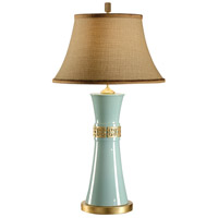 Wildwood Lamps Studio W 1 Light Simone Lamp-Breeze Fired Ceramic Table Lamp in Gold 26094-2
