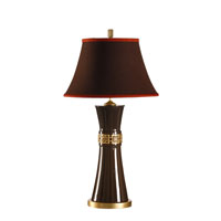 Wildwood Lamps Studio W Hand Decorated Ceramic Simone Lamp - Espresso With Antique Gold Mounting 26095-2