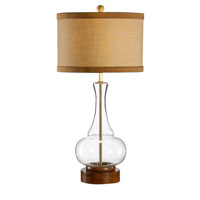 Wildwood Lamps Studio W Mouth Blown Glass Anoushka Lamp - Wood Base Finished Dry Antique 26098-2