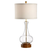 Wildwood Lamps Studio W Mouth Blown Glass Anoushka Lamp - Wood Base Finished Dry Antique 26098
