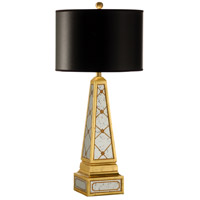 Wildwood Lamps Studio W 1 Light Ava Lamp Hand Decorated Mirror Panels Table Lamp in Antique Gold 26102
