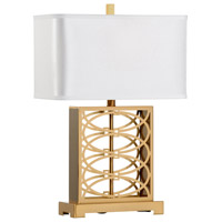 Caryn 26 inch 100 watt Antique Brass Table Lamp Portable Light