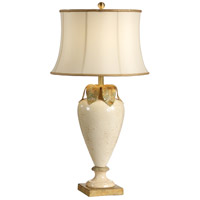 Italia 33 inch 100 watt Crackle Glaze Florentine Ceramic Table Lamp Portable Light