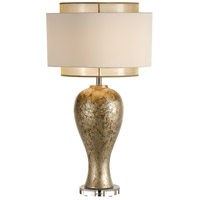 Italia 30 inch 100 watt Old Silver Table Lamp Portable Light