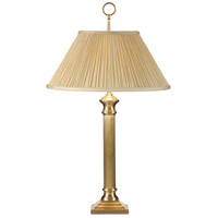 Wildwood Lamps Reeded Column Table Lamp in Hand Finished Solid Brass 2728