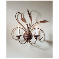 Wildwood Lamps Iron Sconce in Art Glaze Wrought Iron 275