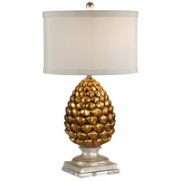 Wildwood Lamps Pigna Table Lamp in Antique Gold Leaf 27501