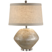 Italia 27 inch 100 watt Old Silver On Terra Cotta Table Lamp Portable Light
