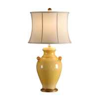 Italia 33 inch 100 watt Squash Yellow Glaze Table Lamp Portable Light
