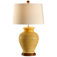 Wildwood Lamps Italia 1 Light Verezzi Lamp Hand Made And Striated Table Lamp in Yellow 27543