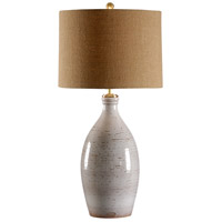 Wildwood Lamps Italia 1 Light Levanto Lamp-White Hand Thrown And Textured Table Lamp in White Glaze 27545