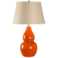 Wildwood Lamps Italia 1 Light Mandarina Lamp Tangerine Glaze Table Lamp in Tangerine 27552