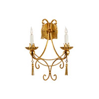 Wildwood Lamps Rope And Tassels Sconce in Metal Leaf Finish 2832