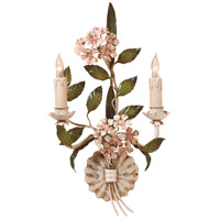 Wildwood Lamps Hydrangia Sconce in Hand Painted Florentine Iron 2842