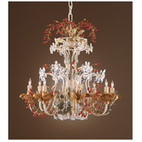 Wildwood Lamps Murano Droplets Chandelier in Handmade And Dressed Iron 2860