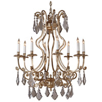 Wildwood Lamps Crystals Silver Chandelier in Hand Finished With Old Silver 2865
