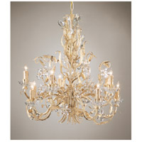 Wildwood Lamps Crystal Flowers Chandelier in Gold And Antique White On Iron 2883