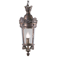 Crowned 1 Light 9 inch Bronze On Solid Brass Lantern Ceiling Light