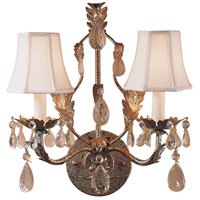 Wildwood Lamps Crystal Sconce in Florentine Art And Lead Crystals 292