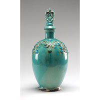 Wildwood Lamps Casual Antique Crackle Glaze Jar With Stopper - Hand Finished Ceramic 292436