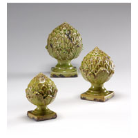 Wildwood Lamps Casual Antique Crackle Glaze Pineapple Finials - Hand Finished Ceramic 292439