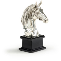 Wildwood Lamps High Country Horse Head Solid Cast Brass Decorative Accessory in Brass 292459
