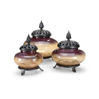 Wildwood Lamps Casual Covered Jars (Set of 3) Decor Accessory in Art Glass 292489