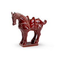 Wildwood Lamps Casual Tang Horse Decor Accessory in Hand Made Glazed Ceramic 292498