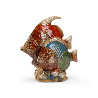 Wildwood Lamps Casual Fun Fish Decor Accessory in Antique Patina 292505
