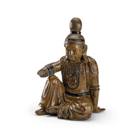 Wildwood Lamps Casual Buddha Decor Accessory in Hand Colored Composite with Antique Patina 292506