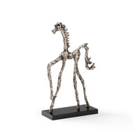 Wildwood Lamps Casual Horse Wire Sculpture Decor Accessory in Cast Aluminum Patina 292510