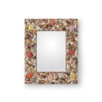 Wildwood Lamps Coastal Mirror with Mixed Shells in Multicolors 292530