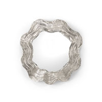 Wildwood Lamps Casual Ribbon Frame Mirror in Cast Aluminum with Silver 292568 photo thumbnail