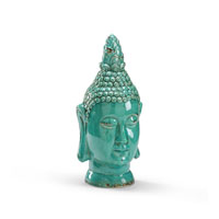 Wildwood Lamps Casual Buddha Head Decor Accessory in Antique Glazed Fired Ceramic 292584