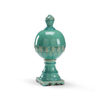 Wildwood Lamps Casual Bulbous Talisman Decor Accessory in Antiqued Glazed Fired Ceramic 292592