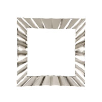 Decorum by Mary Taylor 32 X 32 inch Hand Formed Stainless Steel Wall Mirror Home Decor