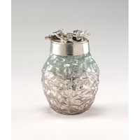 Wildwood Lamps Decorum by Mary Taylor Art Glass Leaf Bottle - Cast Alloy Top 294289