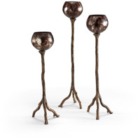 Wildwood Lamps Burnt Silver Votives S/3 294293