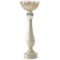 Wildwood Lamps Decorum by Mary Taylor Palacio Chiselled Bowl (Tall) Art Glass Decorative Accessory in Snowhite 294369