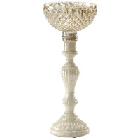 Wildwood Lamps Decorum by Mary Taylor Palacio Chiseled Bowl Short Art Glass Decorative Accessory in Snowhite 294370