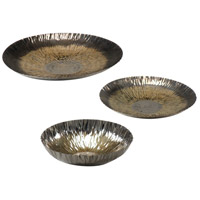 Wildwood 294371 Decorum by Mary Taylor Black/Gold/Nickel Chargers, Set of 3