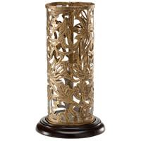 Wildwood Lamps Decorum by Mary Taylor Jacobean Hurricane (Medium) Hand Hammered And Pierced Iron Decorative Accessory in Expresso And Antique Goldenes 294398