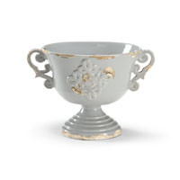 Wildwood Lamps Decorum Handled Cache Pot Decor Accessory in Antique Glazed Euroceramic 294452